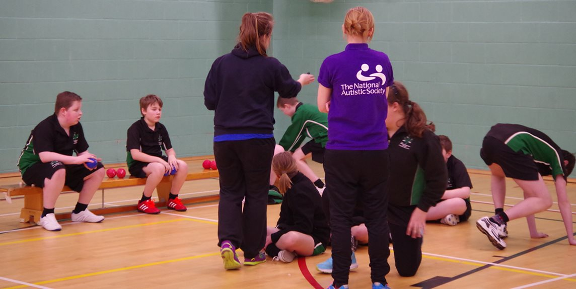 National Autistic Society indoor coaching session